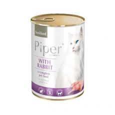 Konserwa Piper Cat Sterilised z królikiem 400 g