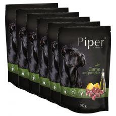 Saszetka Piper Adult z dziczyzną i dynią 6 x 500 g