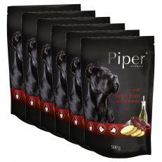Saszetka Piper Adult z wołową wątróbką i ziemniakami 6 x 500 g