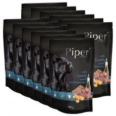 Saszetka Piper Adult z jagnięciną, marchwią i brązowym ryżem 12 x 500 g