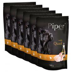 Saszetka Piper Adult z przepiórką 6 x 500 g