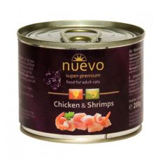 Konserwa NUEVO CAT Adult Chicken & Shrimps 200 g
