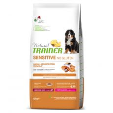 TRAINER Natural SENSITIVE No Gluten Puppy & Junior Medium / Maxi Salmon 12 kg