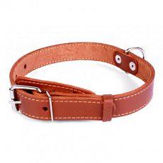 COLLAR skórzana obroża dla psa brązowa 32 - 40 cm, 20 mm