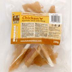 HUHU Bamboo mięso kurczak na bawolim patyku 250 g