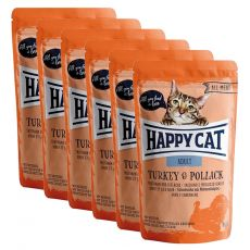 Saszetka Happy Cat ALL MEAT Adult Turkey & Pollack 6 x 85 g