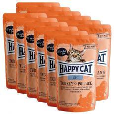 Saszetka Happy Cat ALL MEAT Adult Turkey & Pollack 12 x 85 g