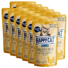 Saszetka Happy Cat ALL MEAT Adult Chicken & Duck 12 x 85 g