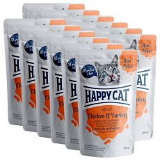 Saszetka Happy Cat MEAT IN SAUCE Adult Chicken & Turkey 12 x 85 g