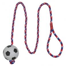 Pływająca gumowa piłka na sznurku dla psów - 6 cm