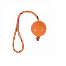Zabawka dla psów - gumowa piłka na sznurku - 6cm