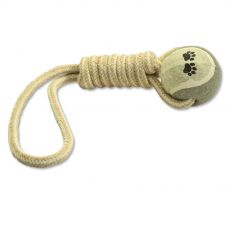 Zabawka do ciągnięcia Dog Fantasy JUTA z piłeczką tenisową 34 cm