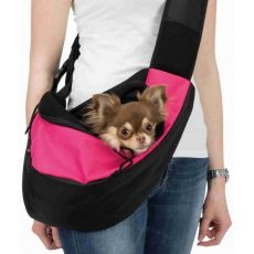 TRIXIE torba podróżna Sling różowo-czarna 50 x 25 x 18 cm