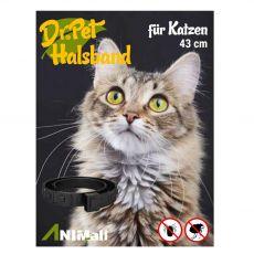 Dr.Pet obroża przeciwpasożytnicza dla kotów CZARNA 43 cm
