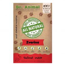 Dr.Animal 100 % suszone mięso z dziczyzny 80 g