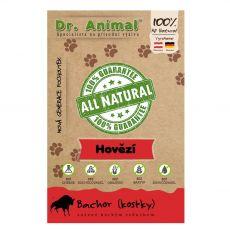 Dr.Animal 100 % mięsne suszone kostki z wołowego żwacza 80 g