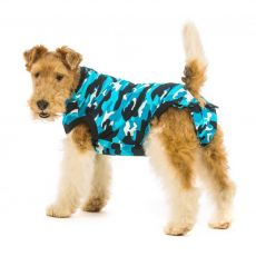 Odzież pooperacyjna dla psa XS kamuflaż niebieska