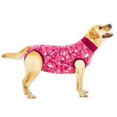 Odzież pooperacyjna dla psa S kamuflaż różowa
