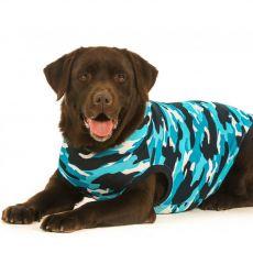 Odzież pooperacyjna dla psa XXL kamauflaż niebieska