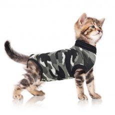 Odzież pooperacyjna dla kota XS kamuflaż