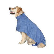 Szlafrok dla psa - niebieski - 40cm