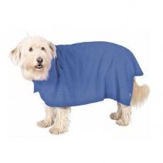 Szlafrok dla psa - niebieski - 30cm