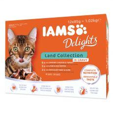 Iams Cat Multibox saszetki z mięsem zwierząt lądowych 12 x 85 g