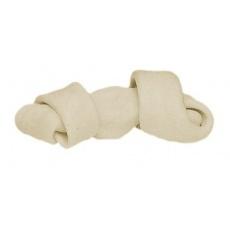Kość z węzłem dla psów - biała 110g, 16cm