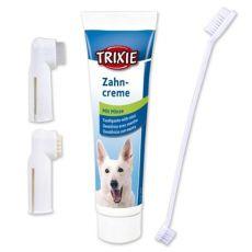 Higiena jamy ustnej dla psów - pasta do zębów + szczoteczki