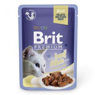 Saszetka BRIT Premium Cat Beef in Jelly 85 g