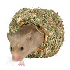 Domek dla gryzoni z trawy  - 16 cm