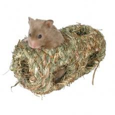 Domek dla gryzoni z trawy - długi, 19 cm