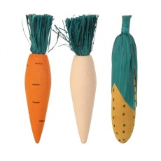 Drewniane zabawki dla gryzoni - 3 warzywa - 10 cm