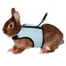 Smycz i szelki dla królików - na rzepy