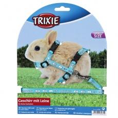 Szelki dla królika miniaturki - kolor jasnoniebieski
