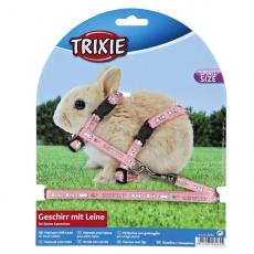 Szelki i smycz dla królików miniaturek - kolor różowy