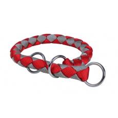 Obroża dla psów, regulowana, czerwono - popielata , L, 43 - 51 cm