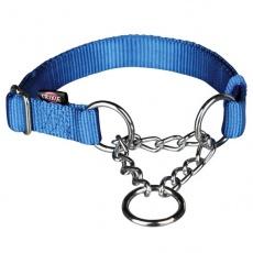 Niebieska obroża półzaciskowa dla psa - M - L, 35 - 55 cm