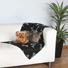 Koc dla psów i kotów - z wzorem w kości