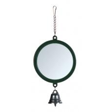 Zabawka dla ptaków z lusterkiem i dzwoneczkiem, 7 cm