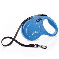 Flexi NEW CLASSIC smycz M do 25kg, 5m taśma - niebieska