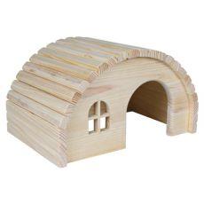 Mały domek dla gryzoni ze sklepionym dachem