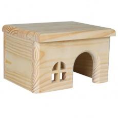 Domek dla gryzoni z prostym dachem - średni