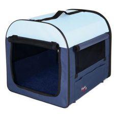 Transporter dla psów i kotów, ciemno/jasnoniebieska, 47 x 32 x 32 cm
