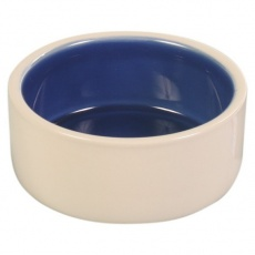 Miska dla psów, ceramiczna, kremowa - 1l