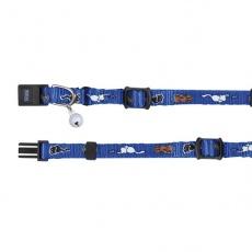 Obroża dla kota ze wzorkiem, niebieska - 15 - 20 cm