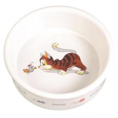 Miseczka dla kota z wzorem, ceramiczna - 0,2 l