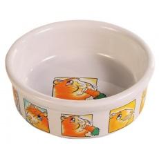 Ceramiczna miska dla świnek morskich, ze wzorami - 240 ml