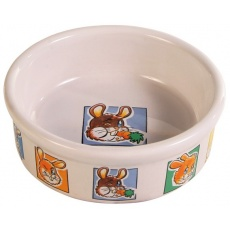 Ceramiczna miseczka dla królików z rysunkami - 300 ml