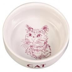 Miska dla kota, ceramiczna, z obrazkiem - 0,3 l